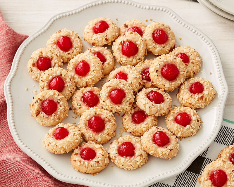 Chewy Almond-Cherry Cookies