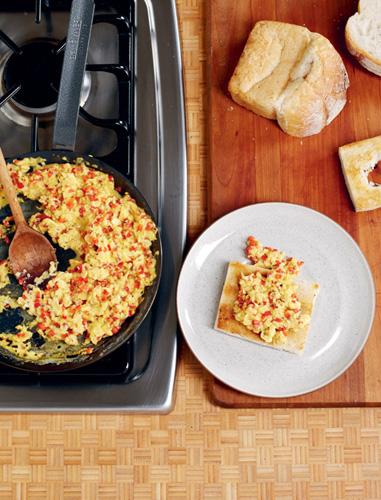 Egg and Pepper Croustades