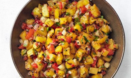 Grilled Pineapple and Onion Salsa