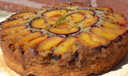 Plum-Rosemary Upside-Down Cake