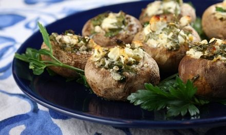 Stuffed Mushrooms with Feta and Dill
