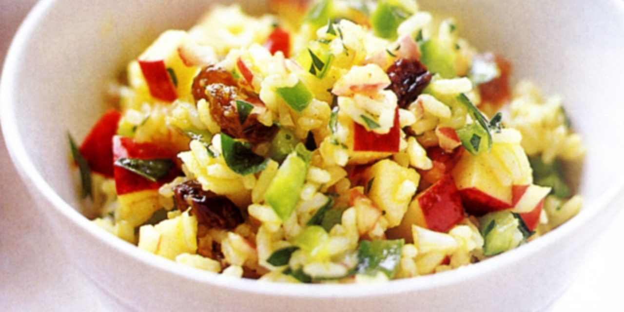 Curried Rice Salad with Apples and Cashews