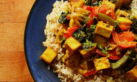 Curried Rice, Tofu, and Vegetables