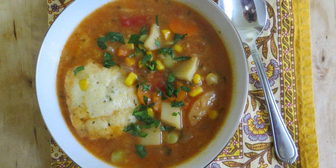 Fragrant Vegetable Stew with Corn Dumplings