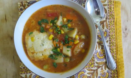 Fragrant Vegetable Stew with Corn Dumplings