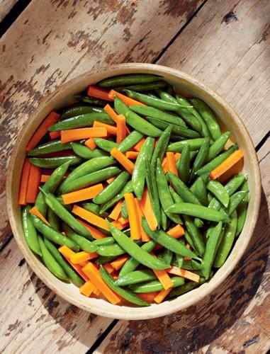 Honey-Glazed Sugar Snap Peas with Carrots