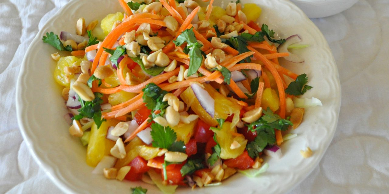 Indonesian Salad with Spicy Peanut Dressing