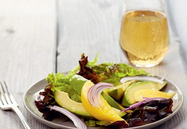 Mango and Avocado Salad with Raspberry Vinaigrette