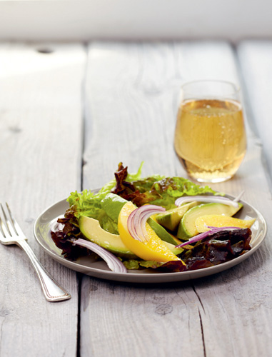 Mango and Avocado Salad with Raspberry Vinaigrette
