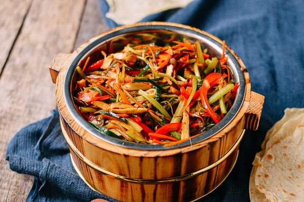 Moo Shu Vegetables with Mandarin Pancakes