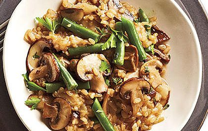 Risotto of Brown Rice and Mushrooms
