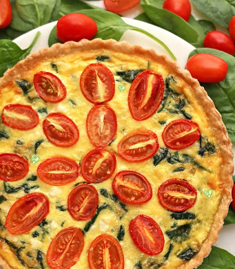 Spinach Custard Ring with Tomato Cream Sauce