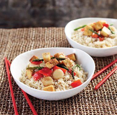 Stir-Fried Asparagus, Tofu, and Red Pepper