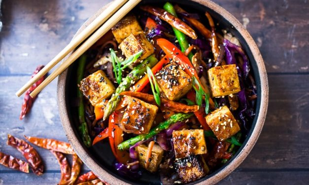 Szechuan Braised Tofu and Vegetables