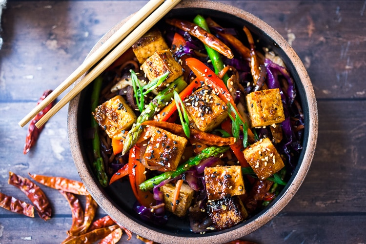 Szechuan Braised Tofu and Vegetables