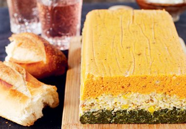 Three-Layered Vegetable Pate with Herb Mayonnaise