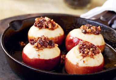 Baked Apples with Honey and Brandy