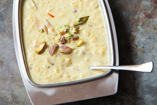 Kheer (Rice, Almond, and Cardamom Pudding)