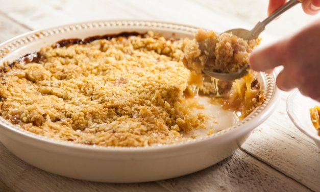 Pear and Apricot Crisp