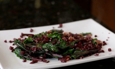 Sauted Grated Beets and Beet Greens
