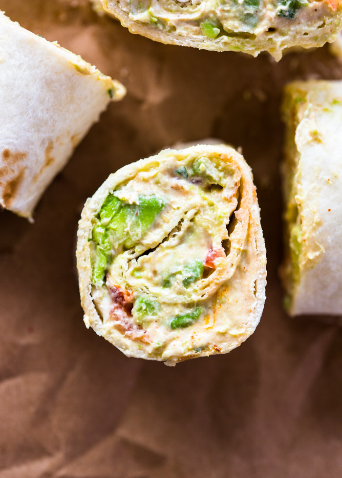 Guacamole roll-ups