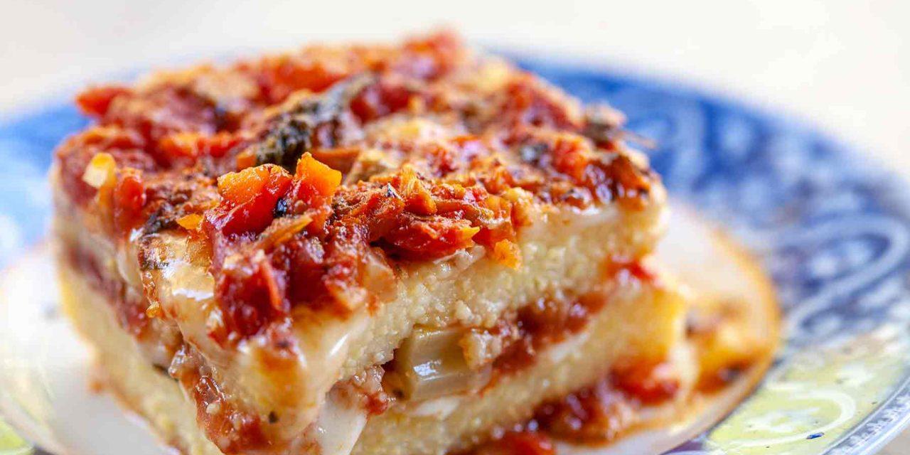Polenta with two-tomato topping