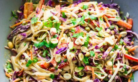 Thai noodle salad with peanut sauce