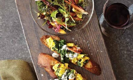 GREEN EGGS & YAM TOASTS