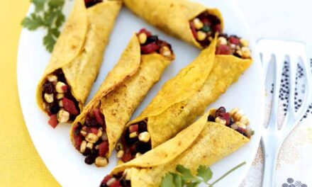 OVEN-CRISPED BLACK BEAN & CORN TAQUITOS