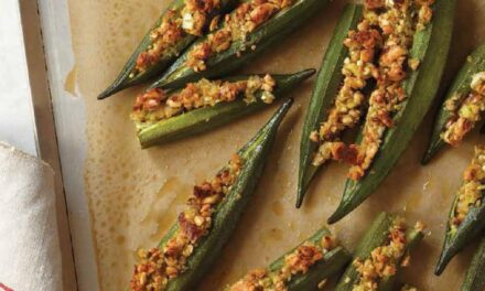PEANUT-STUFFED OKRA FINGERS