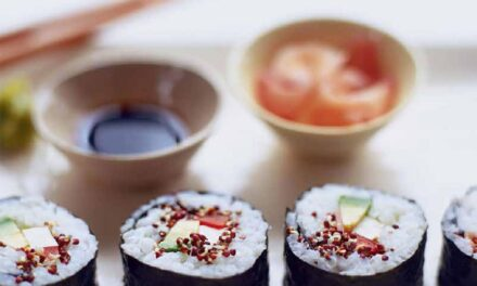SPICY BROCCOLI SPROUT SUSHI