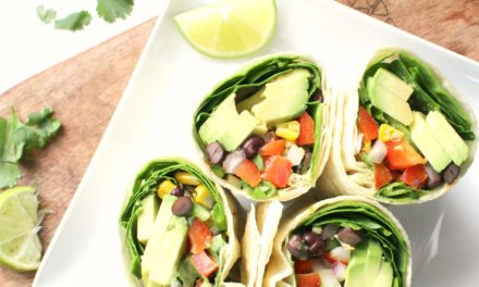 Avocado salad wraps