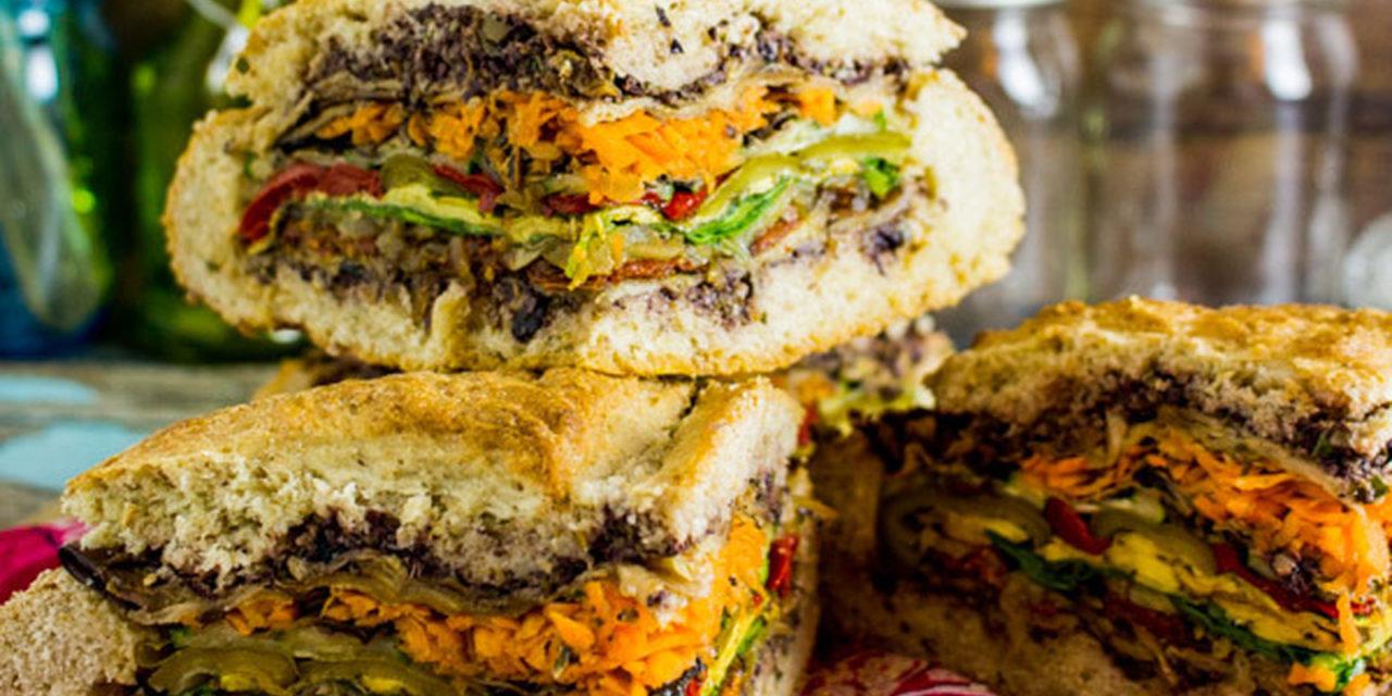Mediterranean muffuletta sandwich