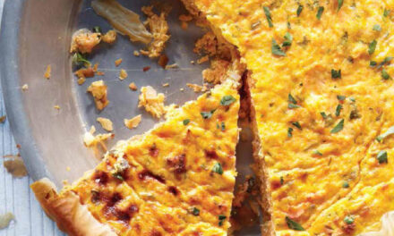 CARROT-RICOTTA QUICHE IN A PHYLLO CRUST