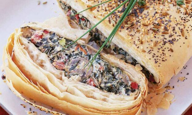 MUSHROOM, CHEESE & VEGETABLE STRUDEL