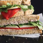 QUICK WALNUT PÂTÉ SANDWICHES WITH PEARS & ARUGULA