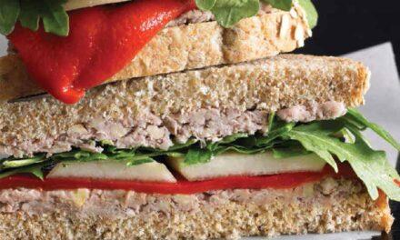 QUICK WALNUT PÂTÉ SANDWICHES WITH PEARS & ARUGULA