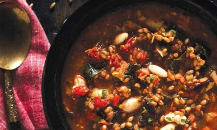 SMOKY VEGETABLE & WHEAT BERRY STEW