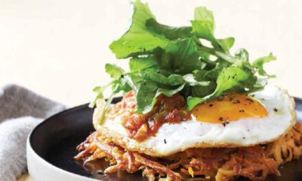 SWEET POTATO & EGG STACKS