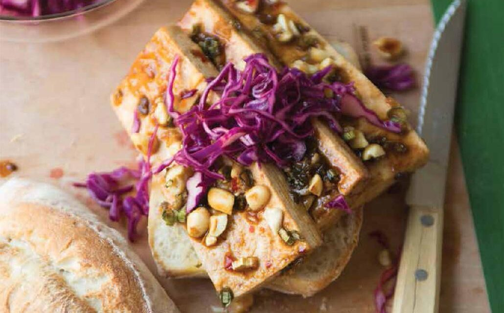 SWEET & SOUR BAKED TOFU SANDWICHES