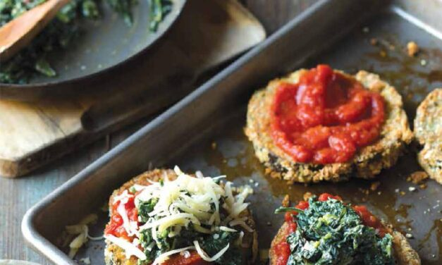 EGGPLANT PARMESAN WITH CREAMED SPINACH