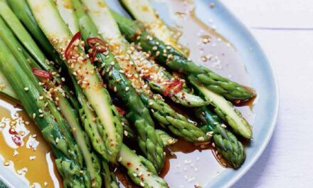 GINGER-GARLIC MARINATED ASPARAGUS