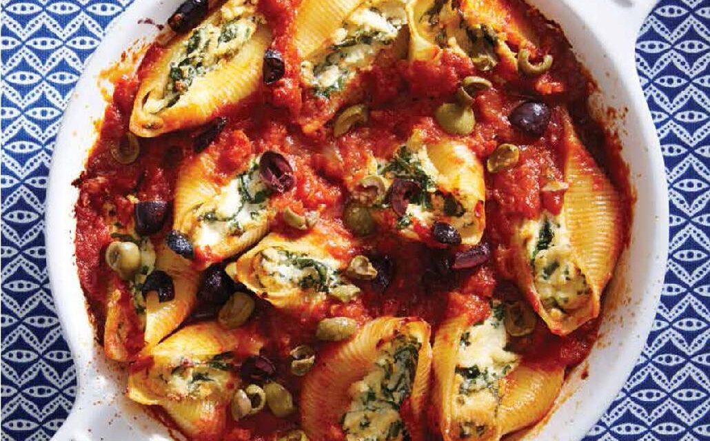 TOFU & SPINACH STUFFED SHELLS