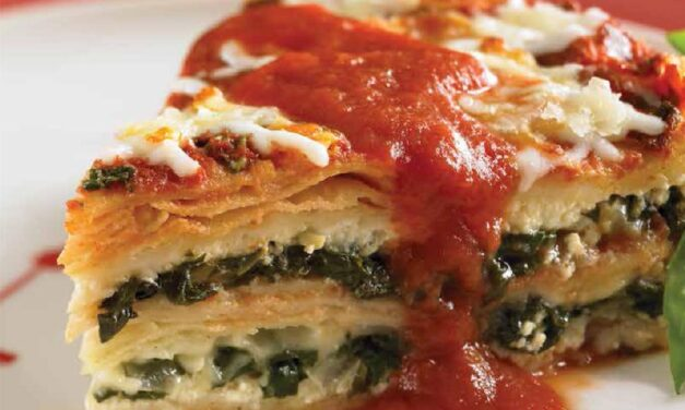 TORTILLA LASAGNA WITH SWISS CHARD