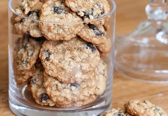 Rum and raisin biscuits