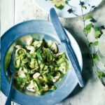 Courgette, marjoram and toasted almond salad