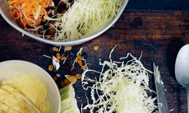 Fruity carrot coleslaw