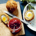 Scotch duck egg with tomato jam