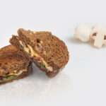 Truffled mushroom and dill pâté sandwich