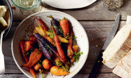 Honey-glazed carrots with chervil